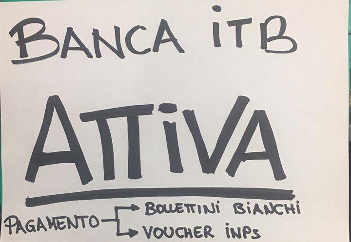 Finalmente servizi Banca ITB attivi!!!!! Pagamento qualsiasi bollettino bianco e pagamento voucher
